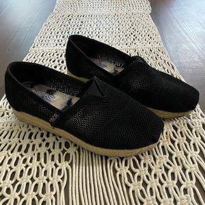 Bobs memory foam black slide on flats/shoes